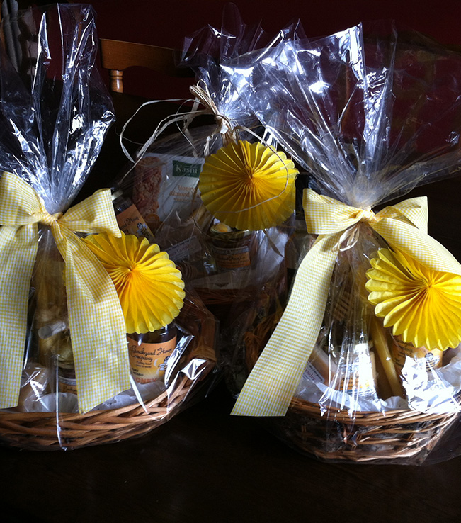 Custom gift baskets Backyard Honey Co