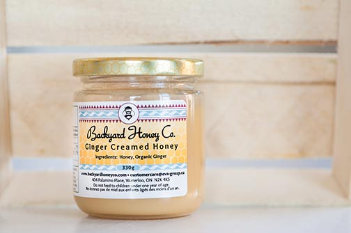 Jar of Ginger Creamed Honey